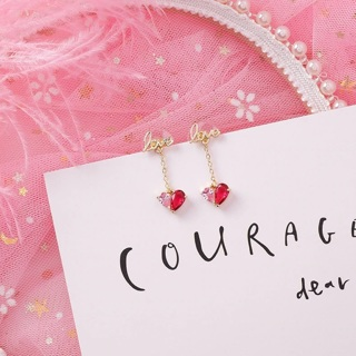 [Jewelry] Love Pink Earrings for Girls and Woman - Lovely Gift