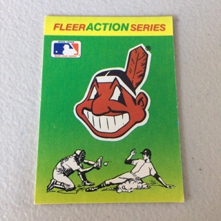 1990 Fleer - Team Stickers Inserts #CLE Cleveland Indians