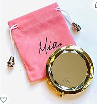 Mia Beauty Jeweled Compact Mirror | Make Up Purse Mirror