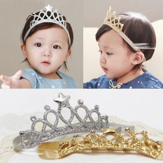 Princess Crown Headwear Headbands Bow Girls Toddler Baby Kids Accessories Hair R