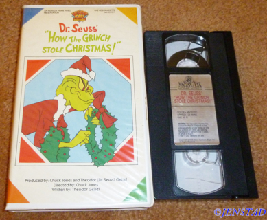 dr seuss how the grinch stole christmas classic cartoonanimated vhs tape with rare cover - How The Grinch Stole Christmas Vhs