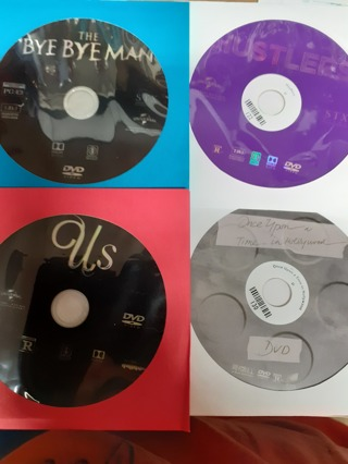 4 NEW RELEASE MOVIES  ((( DVD  disc  only)))