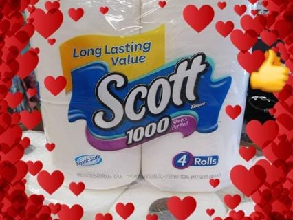 ⚘ Scott 1000 Sheets A Roll ~ 4 ROLLS ONLY ⚘ ✔ PLEASE READ DESCRIPTION ✔