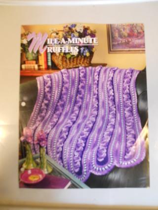 Free Mile A Minute Ruffles Afghan Pattern Crochet Listia