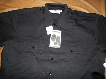 ELBECO UNIFORM EMS CO POLICE SECURITY BUTTON UP short sleeve SHIRT ( BRAND NEW )