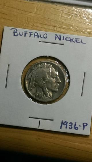 1936 Buffalo Nickel #1 4.54