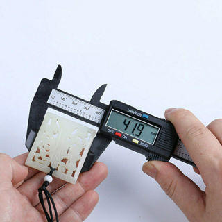 Digital LCD Plastic Electronic Gauge Vernier Caliper 100mm/4inch Micrometer
