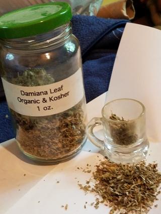 Damiana herb used for witch, pagan , wica , voodoo hoodoo
