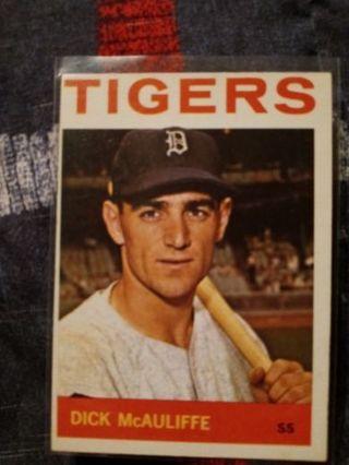 1964 Topps Detroit Tigers Dick McAuliffe