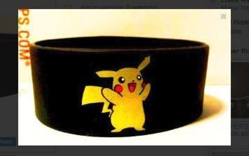 NEW Pokemon Pikachu Wrist Band bracelet wristband POKEMON JEWELRY pocket monster anime