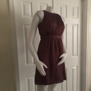 Ann Taylor Loft Burgundy Dress 0