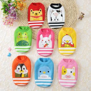 Various Pet Dog Clothes Cute Cartoon Costume Vest Coat Puppy Cat T-Shirt Apparel