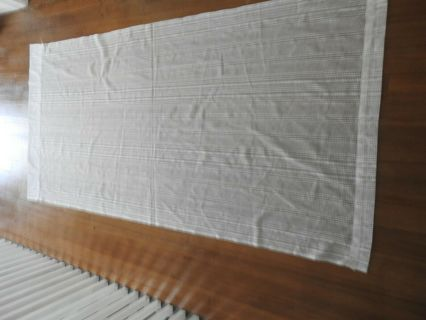 1 lacey panel white curtain