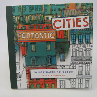 Fantastic Cities Coloring Book 20 Postcards to Color Architecture Buildings Art