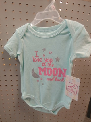 "NWT! Swiggles - Baby Girls Onesie ""I LOVE YOU TO THE MOON AND BACK"""" Size: 6-9mths"