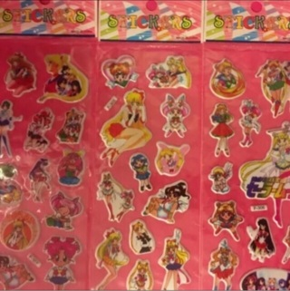 3 Sheets Sailor Moon Stickers