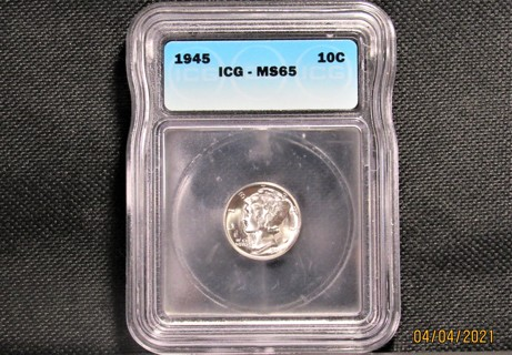 ★★ 1945 MERCURY DIME ★★ **ICG MS65 - 90% SILVER**