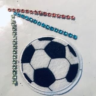 Soccer Ball Embodied Iron Sew Patch + Bonus