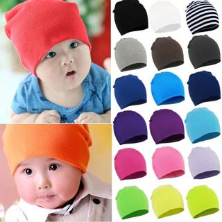 DreamShining Baby Hat Candy Color Kids Newborn Knitted Cap Boys Girls Solid Color Soft Hats Thick