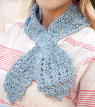 2 CROCHET PATTERNS...Classic Keyhole Scarf and Cafe ...