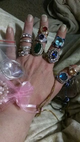 massive jewelry lot Sterling pearls ect must see