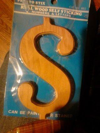 "6"" wood dollar sign. Unfinished"