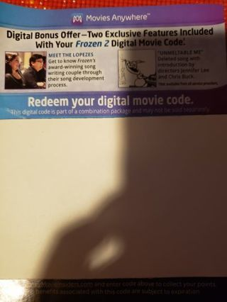 Frozen 2 digital copy