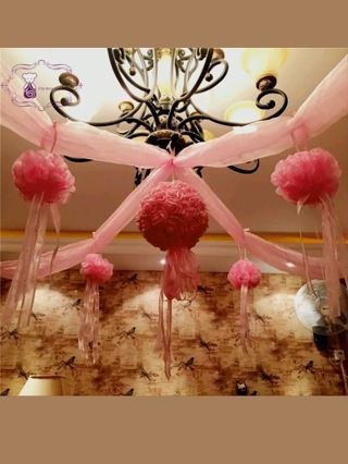 6''Artificial Silk Rose Kissing Flower Ball Wedding Party Decor pink or red 12 piece lot