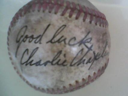 Charlie Chaplin Autographed Baseball