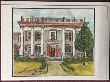 "Elegant House - 5 x 7"" Art Card by artist Nina Struthers - GIN ONLY"
