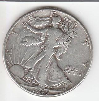 1945 Silver Half $