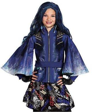 disney descendants evie halloween costume dress cape jacket gloves small 4 6x nwt