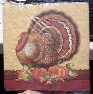Disposable Napkins....Thanksgiving / Turkey!