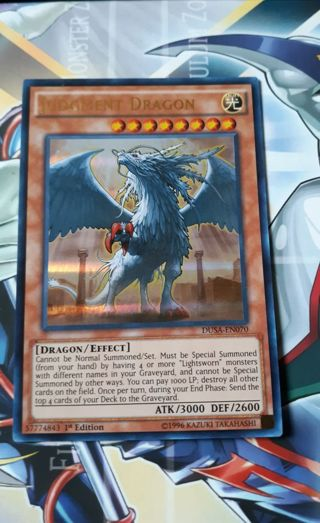 ULTRA RARE HOLO YUGIOH CARD JUDGMENT DRAGON