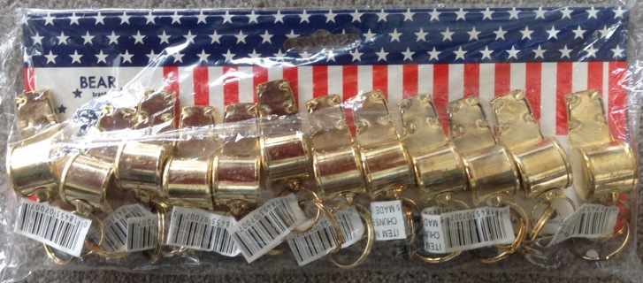 12 New Gold Whistles in Package.  Sealed package