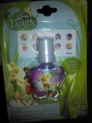 Disney Fairies polish and nail stickers