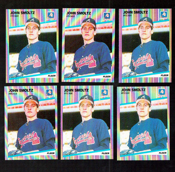 Free: SUPER ROOKIE LOT. 12 1989 Fleer #602 John Smoltz HOF