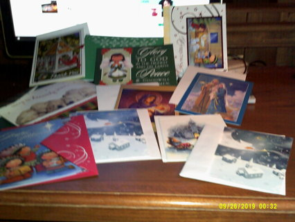 20 NEW CHRISTMAS CARDS with ENVELOPES + BONUS ITEM TO WINNER