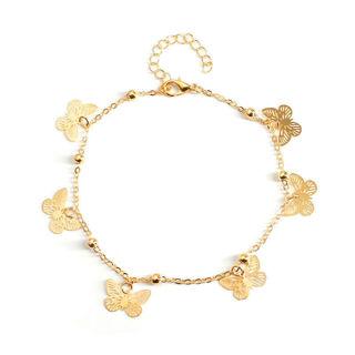 Gold Silver Bracelet Women Anklet Butterfly x1
