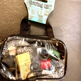 Brand New: Carry Along Sewing Kit! Thread/Needle/Scissors/Measuring Tape/Safety Pins...