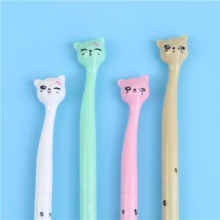 4 X 0.5mm Cute Candy Color Bow Cat Gel Ink Pen Maker Pen School Office Supply Escolar Papelaria