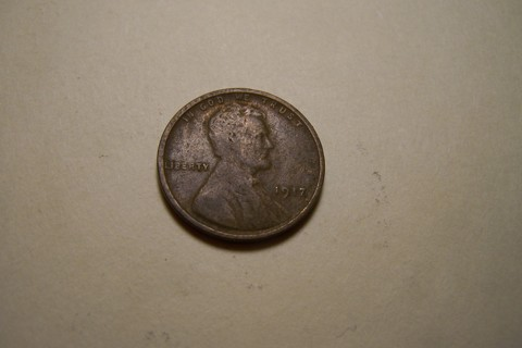 1917 Lincoln Wheat Cent Wheatie Penny