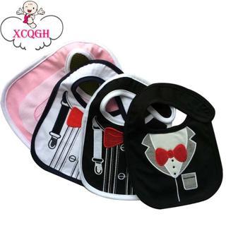 XCQGH Collar Baby Boy Bibs Cotton Infant Newborn Girl Feeding Apron Smock Cute Pattern Bandana Bib