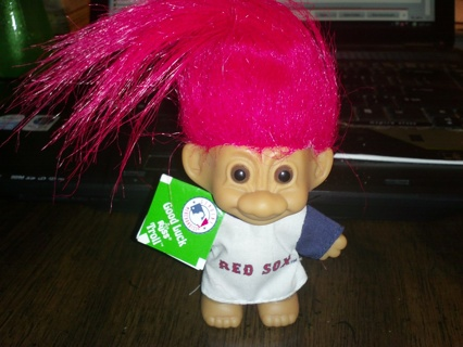 Free Brand New Russ Red Sox Troll Doll Approx 3 4 In Dolls