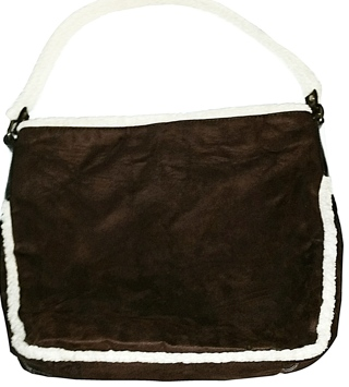 Bath & Body Works - Large Brown Suede/Shearling Tote!
