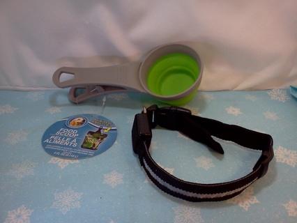 Light-up Dog Collar & Dry Food Scoop