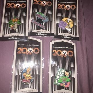 5 Disney Pins Countdown to Millennium