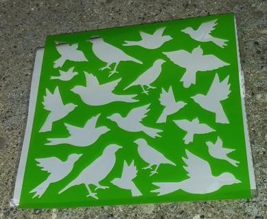 BIRD PLASTIC STENCILS