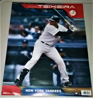 """MLB New York Yankees Mark Teixeira poster by Costacos Sports Posters - Made in Canada - 16"""" x 20"""""""