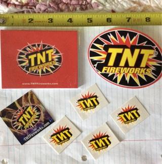 TNT stickers lots of them